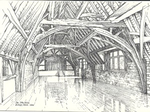 Bishop's Cleeve Tithe Barn artist photo