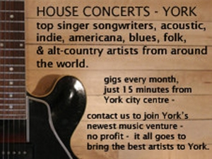 House Concerts York artist photo