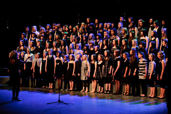 Two Choirs Standing: Ysgol Glanaethwy Choir, Sense of Sound Singers picture