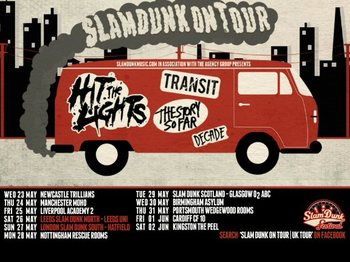 Slam Dunk Club Tour: Hit The Lights + Transit + The Story So Far + Decade picture