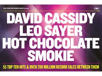 Once in a Lifetime 2012: David Cassidy + Leo Sayer + Hot Chocolate + Smokie picture