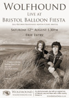 Flyer thumbnail for The Bristol Balloon Fiesta - Jelli Records Bandstand: Wolfhound