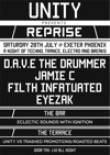 Flyer thumbnail for Unity Presents Reprise: D.A.V.E. The Drummer