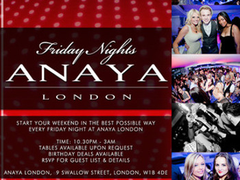 Friday Nights At Anaya London: DJ Marcel Lawson + DJ Guy D'Agelo + DJ G Starr + DJ Joel Corry picture