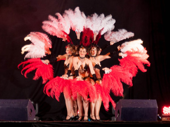 Burlesque: The Flaming Feathers, Miss Dolly Rose, Muriel Lavender, Alice Sparey picture