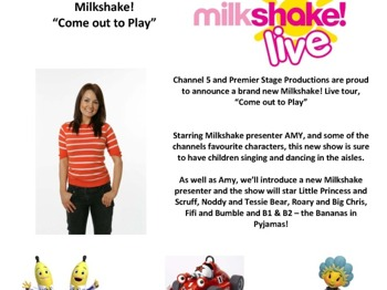 Come Out To Play: Milkshake! - Live picture