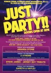 Flyer thumbnail for Just Party!: Steve James (Jersey Boy)
