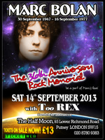 Flyer thumbnail for The Annual Marc Bolan Rock Memorial: TooREX