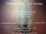 Flyer thumbnail for Chorley Super Soul Sunday