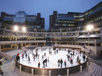 Outdoor Ice Skating In The Heart Of The City picture