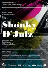 Flyer thumbnail for Musiq Concrete & Nouveau: Shonky + D'Julz + Harry McCanna + David Bevan + Williams + Du Bois