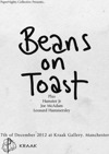 Flyer thumbnail for Beans on Toast + Hamster Jr + Joe McAdam + Leonard Hammerseley