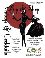 Flyer thumbnail for Sip & Shop - Vintage Shopping & Cocktails