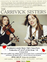 Flyer thumbnail for Bradninch Acoustic Club's Christmas Club Night: Carrivick Sisters