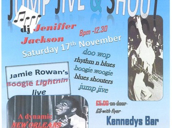 Jump Jive And Shout Special Event: Jamie Rowan + Sally Wilthshire picture