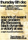 Flyer thumbnail for T.n.s. Records Presents An Evening Of Punk / Rock / Hardcore: Sounds Of Swami + Epic Problem + The Franceens + Black Dynamite + A Victory At Sea