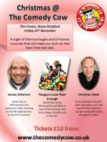 Flyer thumbnail for Christmas At The Comedy Cow: Rayguns Look Real Enough, Christian Steel, James Alderson
