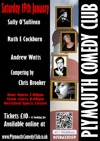 Flyer thumbnail for Plymouth Comedy Club: Sully O'Sullivan, Ruth E Cockburn, Andrew Watts, Chris Brooker