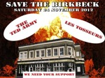 Flyer thumbnail for Save The Birkbeck Tavern: Les Tosseurs + The Ted Army