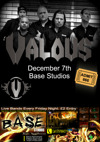 Flyer thumbnail for Friday Night At Base Studios: Valous + Endings And Origins + Left For Red + Frozen In Fear