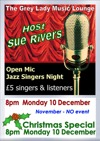 Flyer thumbnail for Open Mic Jazz Singers' Night - Christmas Edition: Sue Rivers