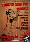 Flyer thumbnail for Punk 'n' Roll For Phoenix: Graveyard Johnnys + Criminal Mind + Kenisia + The Setbacks + Trigger McPoopShoot