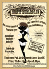 Flyer thumbnail for Misfit Burlesque Show: Melize Mon Tease, Madam Kitty Baker, Frankie de Fleur, Justin De'Cent, Miss Lucy Purr, Petrova de Lex, Kitty Couture, Flossie Smalls, Poppy Raine, Peach Schanps, Reuben F. Tourettes