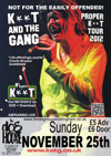 Flyer thumbnail for Proper K**t Tour: K*nt And The Gang + Support