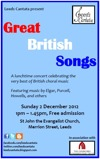 Flyer thumbnail for Great British Songs: Leeds Cantata