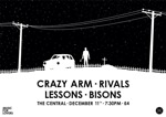 Flyer thumbnail for Music For Lovers Presents: Crazy Arm + Bisons + Rivals + Lessons