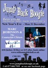 Flyer thumbnail for Jump Back Boogie - New Year's Eve Ball: Marc Robinson & The Counterfeit Crickets + DJ Adrian 'JBB' Waters