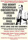 Flyer thumbnail for The Benny Goodman Orchestra's Famous 1938 Carnegie Hall Concert.  A 75th Anniversary Celebration: Pete Long Orchestra