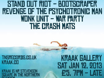 Tns Punk / Ska Beach Party!: Stand Out Riot + Bootscraper + Revenge of The Psychotronic Man + Wonk Unit + The Crash Mats + War Party picture