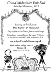 Flyer thumbnail for Grand Midwinter Folk Ball: Duo Expire + Moussaka