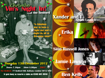 Vin's Night In! Xmas Party: Xander Rawlins + Jamie Lawson + Sion Russell Jones + Ben Kelly + Erika picture