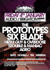 Flyer thumbnail for Evolution: The Prototypes + Six Blade + Hizzle Guy + Trouble & Maniac + Agro