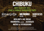 Flyer thumbnail for Chibuku Shake Shake – New Year's Eve Celebration!: 2ManyDJs + DJ Fresh + Redlight + Dread + Sub Focus + Rudimental + Futurebound + Matrix