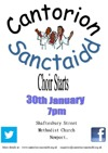 Flyer thumbnail for First Rehearsal: Cantorion Sanctaidd