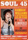 Flyer thumbnail for Soul 45 Live!: Soul 45 djs + Hannah Williams & The Tastemakers + DJ Jimi Needles