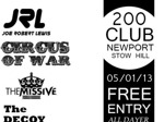 Flyer thumbnail for Free All Dayer: Circus Of War + The Missive + The Decoy + Joe Robert Lewis + Noah's Archives + Luke Beasley + Brett Mahoney + Jelly Season