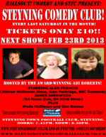 Flyer thumbnail for Steyning Comedy Club: Alan Francis, Abi Roberts, James Sherwood, Wade McElwain, Don Biswas