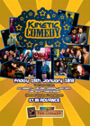 Flyer thumbnail for Kinetic Comedy 7.1: Suzy Bennett, Glen 'Lenny' Sherman, Thanyia Moore, Inel Tomlinson, Leroy Brito, Sunil Patel