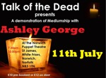 Flyer thumbnail for Talk Of The Dead Mediumship Night: Ashley George