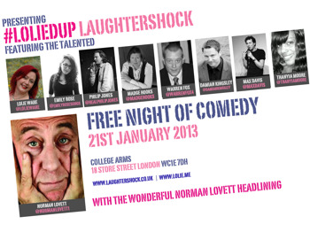 #loliedup @laughtershock: Norman Lovett, Lolie Ware, Madge Hooks, Damian Kingsley, Philip Jones, Thanyia Moore picture