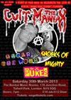 Flyer thumbnail for Hagar The Womb + The pUKEs + The Cult Maniax + Shocks of Mighty