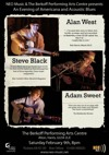 Flyer thumbnail for An Evening Of Americana And Acoustic Blues: Steve Black + Alan West + Adam Sweet