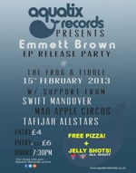 Flyer thumbnail for Emmett Brown + Tafijah Allstars + Swift Manouver + Mad Apple Circus