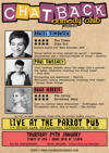 Flyer thumbnail for Chatback Comedy Club At The Parrot - Jubilant January!: Daniel Simonsen, Anna Morris, Paul Sweeney, Bec Hill