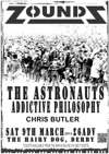 Flyer thumbnail for Zounds + The Astronauts + Addictive Philosophy + Chris Butler