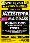 Flyer thumbnail for Open The Gate: Jazzsteppa + Ma'grass + Lyric L + John Blood And The Highlys